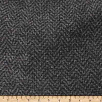Telio Foxy Poly Mix Herringbone Sweater Knit Grey