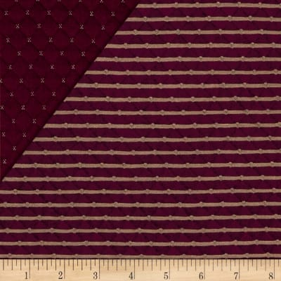 Telio Star Quilted Knit Bordeaux