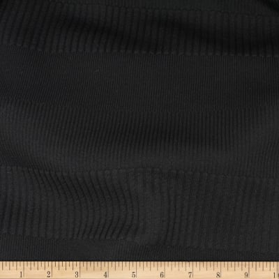 Telio Parallel Rib Poly Spandex Knit Black