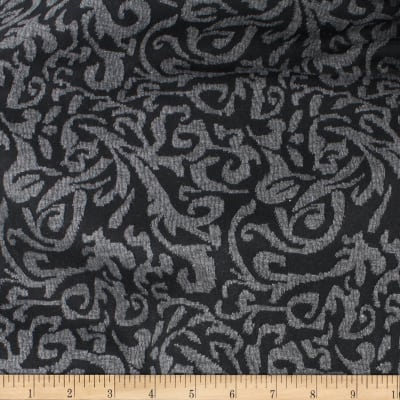 Telio Martina Knit Jacquard Damask Black Grey