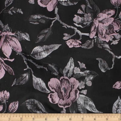 Telio Bowie Polyester Jacquard Floral Black Grey