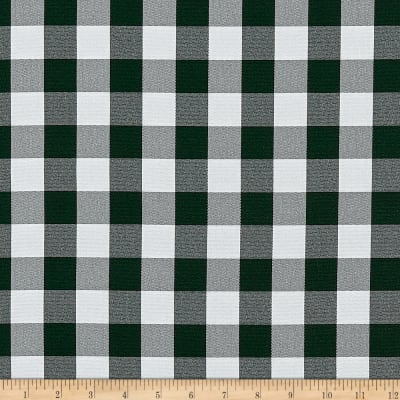 Picnic Gingham Yarn-Dyed Hunter Green/White