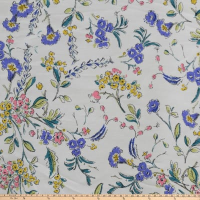 Liliprint Broadcloth Floral White