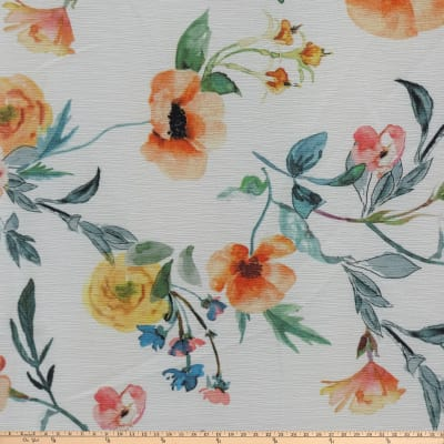 Preview Textiles Flower Show Crinkle Georgette Floral White