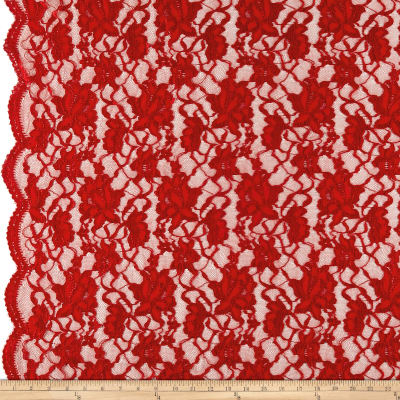 Chantilly Lace Double Boarder Dark Red