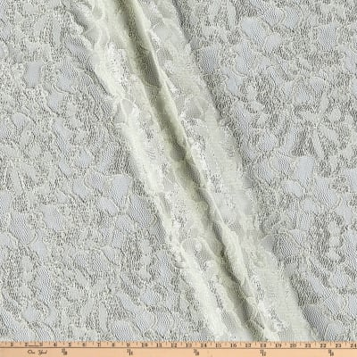 Chantilly Lace Double Boarder Ivory