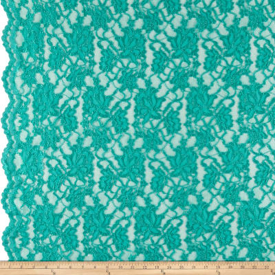 Chantilly Lingerie Lace Double Border Jade