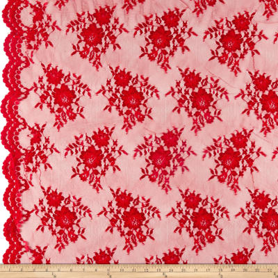 Chantilly Lace Double Boarder Red