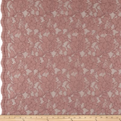 Heavy Corded Chantilly Lace River Rose