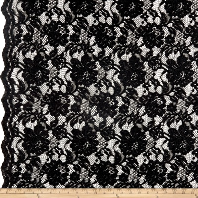 Heavy Corded Chantilly Lace Black