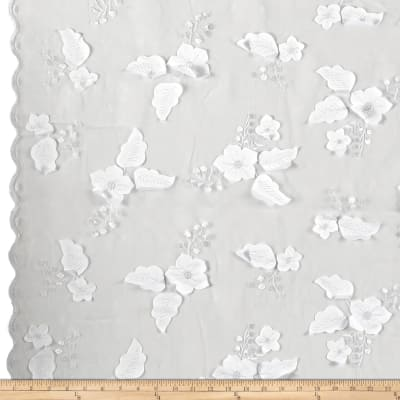 Applique Organza White