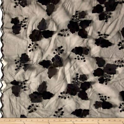Applique Organza Black