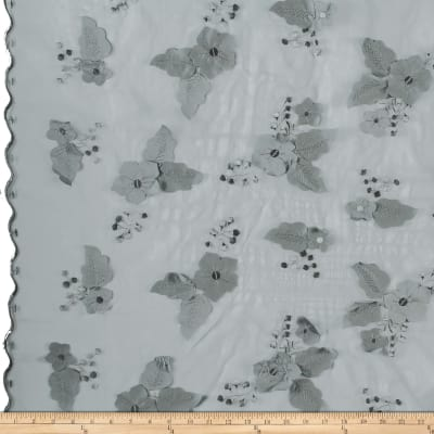 Applique Organza Silver