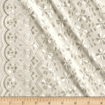 Heavy Cotton Eyelet Ivory