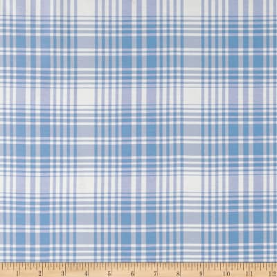 Ralph Lauren Home LCF68251F Elsie Silk Plaid Sky Blue