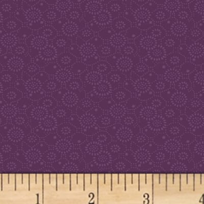 Mary Koval Colorwall Circle Flowers Wine Berry