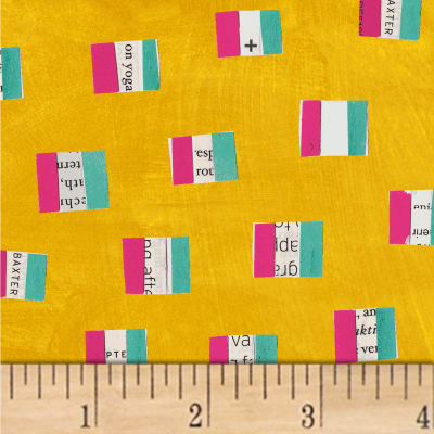 Carrie Bloomston Wonder French Flags Mustard