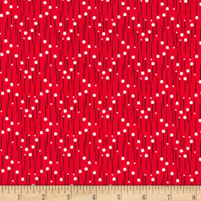 Kaufman Sewn With Charm Red Pins