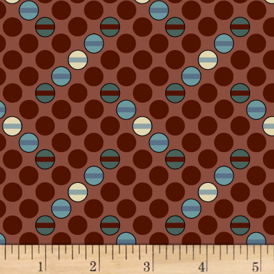 Judie Rothermel Scrappier Dots Dots and Dashes Brown