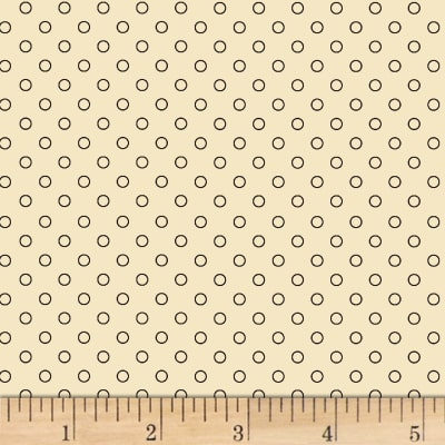 Judie Rothermel Scrappier Dots Outlined Dots Cream