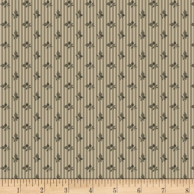 Timeworn Tool Box Tape Measure Mini Wallpaper Stripe Gray