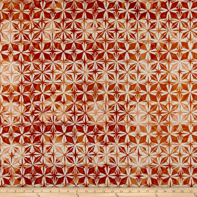 Kim Eichler-Messmer Imbue Batiks Diamond Flower Orange