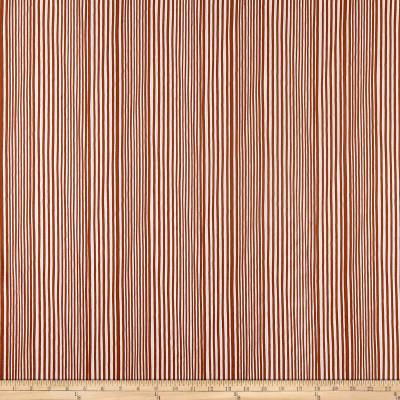 Kim Eichler-Messmer Imbue Batiks Narrow Stripe Orange/White
