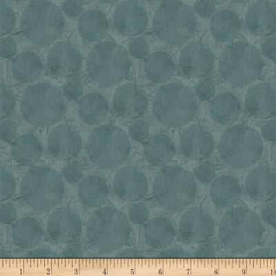 Laura Berringer In The Round Distressed Textured Dots Teal