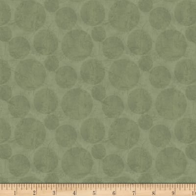 Laura Berringer In The Round Distressed Textured Dots Green