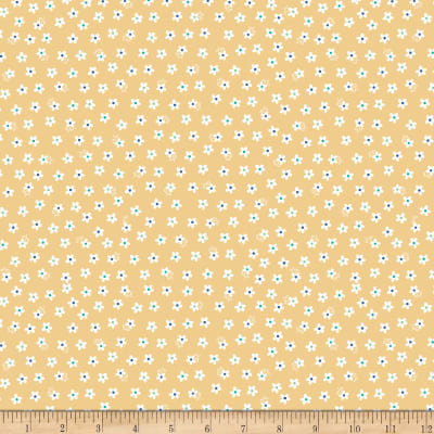 Riley Blake Calico Days Jersey Knit Calico Daisy  Yellow