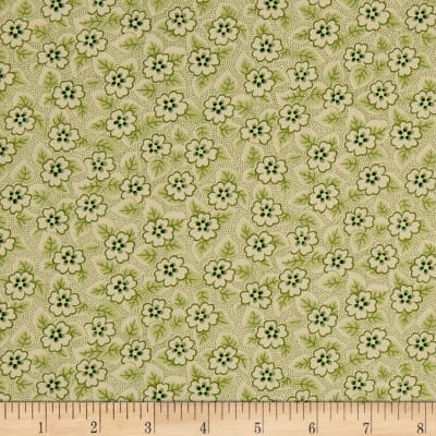 QT Fabrics Coventry Floral & Dot Sage