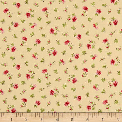 QT Fabrics Coventry Spaced Floral Cream
