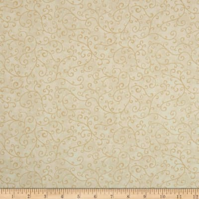 QT Fabrics Mariposa Scroll Medium Ecru