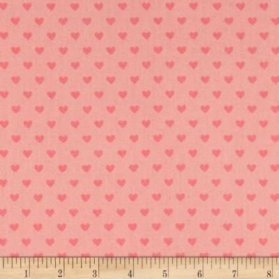 Liberty Fabrics Tea for Two Candy Hearts Pink