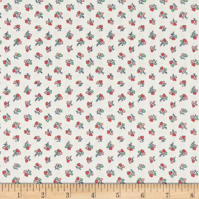 Liberty Fabrics Tea for Two Heart Bouquet Cream