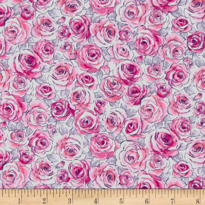 Andover Top Drawer Roses Grey