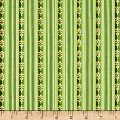Maywood Studio Emma's Garden Little Stripe Green