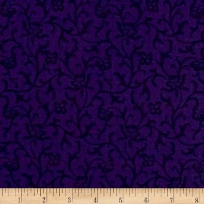 Maywood Studio Emma's Garden Tonal Scroll Dark Purple