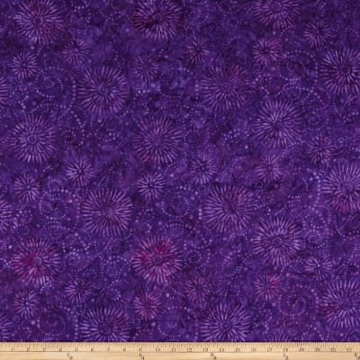 Wilmington Batiks Flower Burst Dark Purple