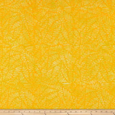Wilmington Batiks Stylized Puzzle Yellow