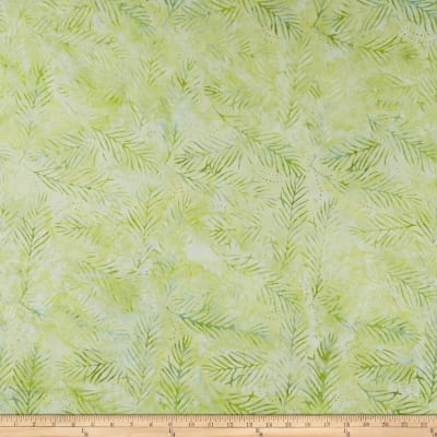 Wilmington Batiks Delicate Fronds Light Green