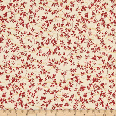 Wilmington Barcolage Leaves and Vines Ivory Fabric