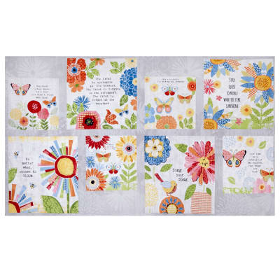 "Wilmington Sing your Song Craft 24""Panel Multi"