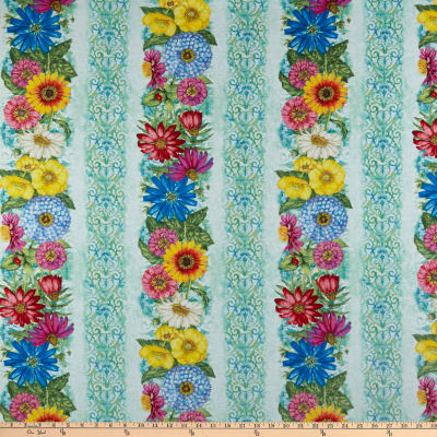 Wilmington Blossom and Bloom Repeating Stripe Multi
