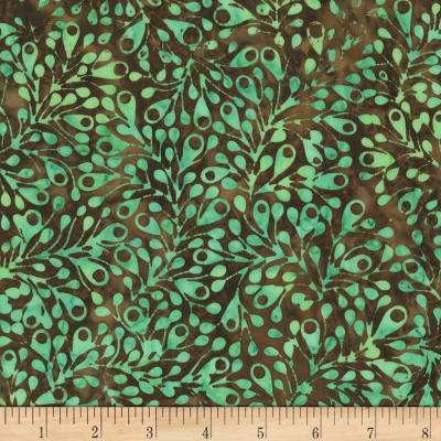 Anthology Fabrics  Art Inspired Batik Nighthawks Spores Sea Green