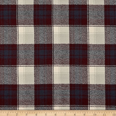 Kaufman Mammoth Flannel Plaid Burgundy