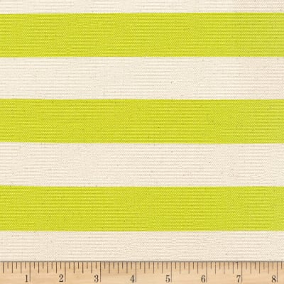 Kaufman Sevenberry Canvas Stripe Heavy Weight Lime