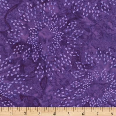 Timeless Treasures Tonga Batiks Jewel Amethyst Star Drops Grape