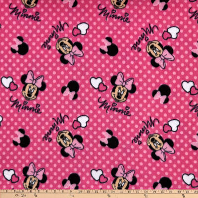Disney Minnie Bowtique Its All About Minnie Head Toss Fleece Pink