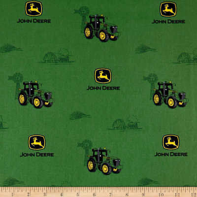 John Deere Everyday Cotton John Deere Print Green